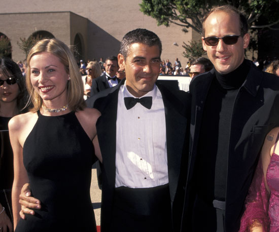 Photo of Anthony Edwards & his friend  George Clooney