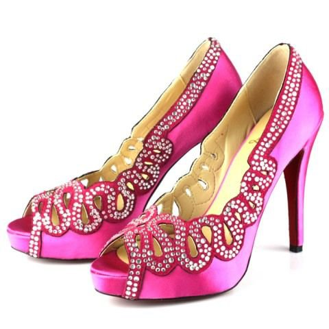 Shoe of the Day:  Hot Pink Louboutin!