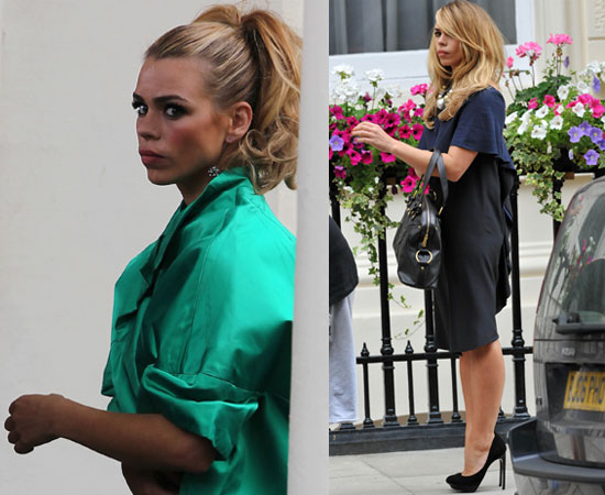 Pictures of Billie Piper Filming Secret Diary of a Call Girl Series Four