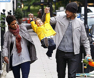 Slide Picture of Halle Berry and Gabriel Aubry With Nahla in London