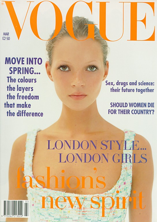 Kate Moss, Vogue UK March 1993