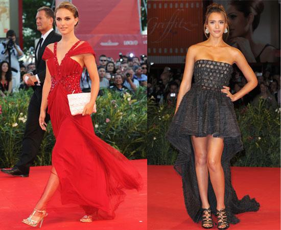 Pictures of Natalie Portman at the Black Swan Venice Film Festival Premiere and Jessica Alba at the Machete Premiere