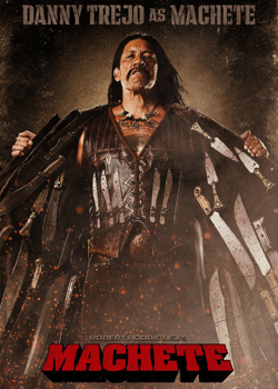 Machete in Theaters, Starring Danny Trejo, Robert De Niro, Lindsay Lohan, and Jessica Alba