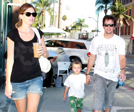 Slide Picture of Mark and Michael Wahlberg With Rhea Durham in LA