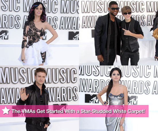 Katy Perry, Selena Gomez, Justin Timberlake, Usher and Justin Bieber at the MTV VMAs