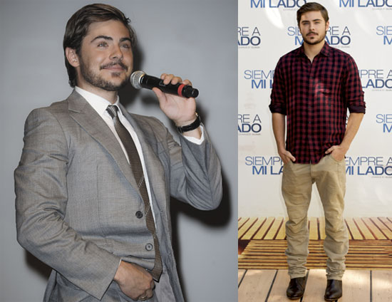 Zac Efron with a Beard Promoting Charlie St. Cloud in France and Spain