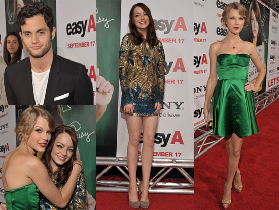 Pictures of Taylor Swift and Emma Stone at Easy A Premiere in LA