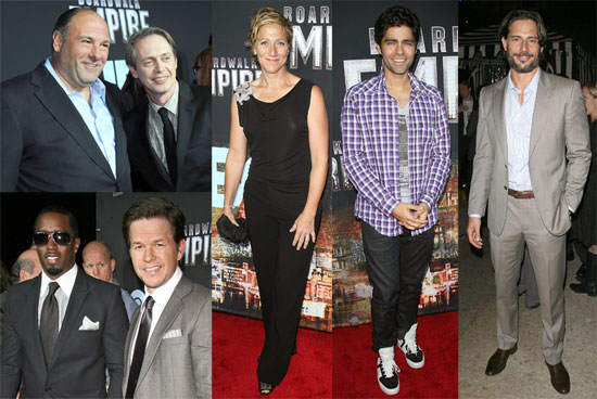Steve Buscemi, Edie Falco, James Gandolfini and Mark Wahlberg at Boardwalk Empire Premiere