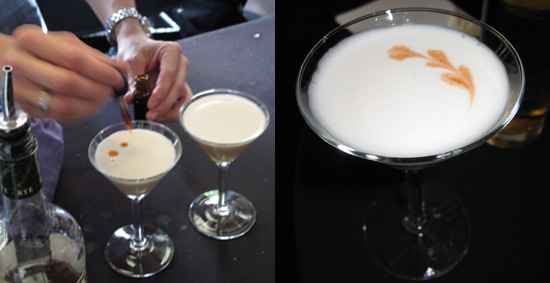 Make a Heart-Shaped Pattern on Cocktails Using a Dropper