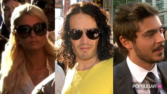 Video of Paris Hilton Leaving Court in Las Vegas, Russell Brand Out While Katy Perry Is at Her Bachelorette Party, and Zac Efron