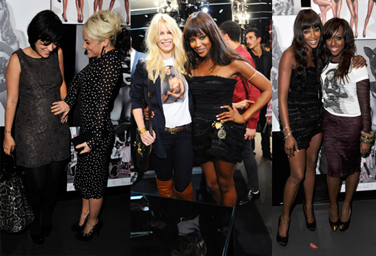 Pictures of Naomi Campbell and D&G Party During London Fashion Week With Lily Allen, Claudia Schiffer and Alexandra Burke