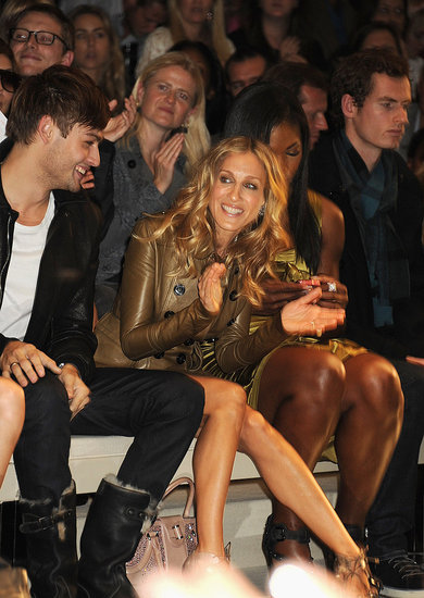 Alexa Chung, Sarah Jessica Parker and Celebrities Front Row at Burberry Spring 2011 London Fashion Week