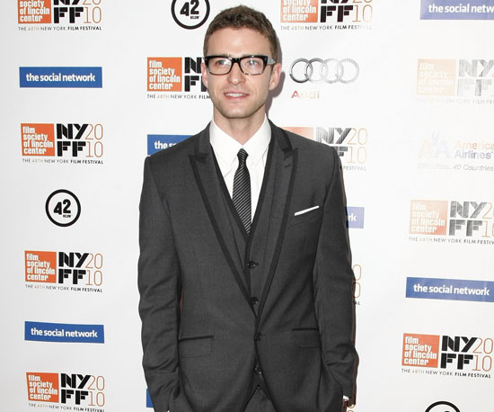 Slide Picture of Justin Timberlake at Social Network Premiere