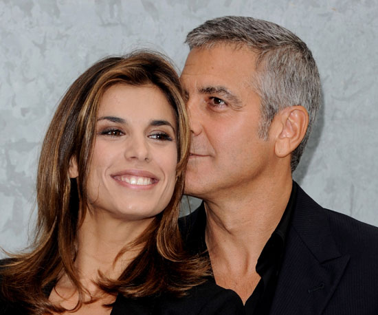 Slide Picture of George Clooney and Elisabetta Canalis at Milan Fashion Week