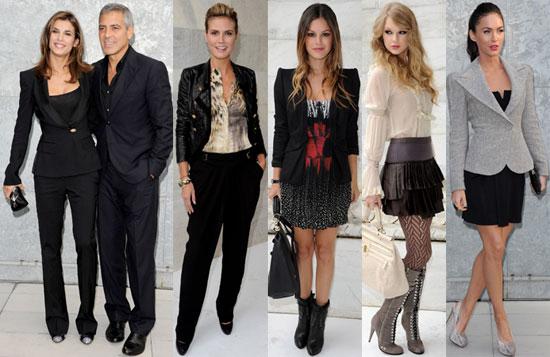 Taylor Swift, George Clooney, Rachel Bilson, Megan Fox at 2011 Spring Milan Fashion Week