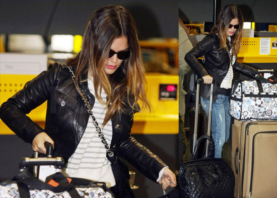 Pictures of Rachel Bilson Leaving Italy Following Milan Fashion Week