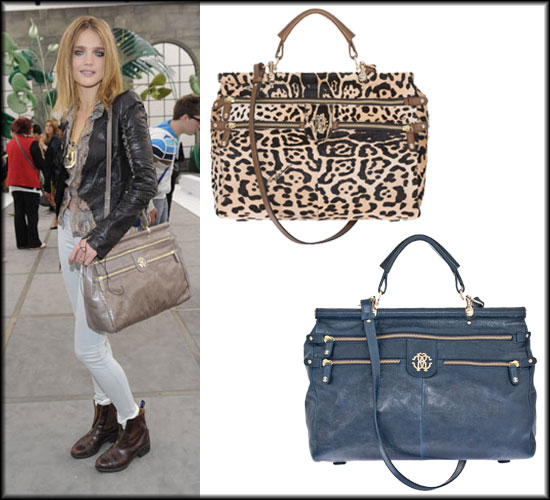 Pictures of Natalia Vodianova With Roberto Cavalli Diva Bag