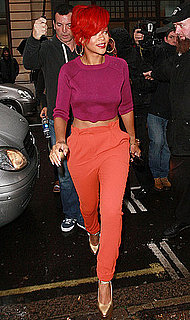 Pictures of Rihanna in a Bold Outfit at a London Radio Station