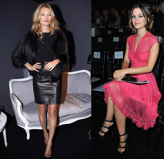 Photos de Kate Moss, Rachel Bilson et John Galliano au dedile Dior printemps 2011