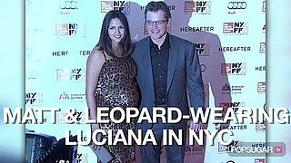Video of Matt Damon and Pregnant Wife Luciana Damon at the New York Film Festival 2010-10-11 12:34:26