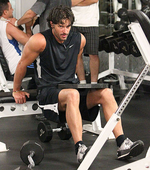 Pictures of True Blood Actor Joe Manganiello Pumping Iron at an LA Gym