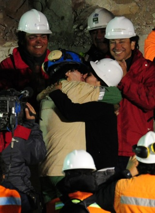 Lots of Love as Miners Are Rescued in Chile