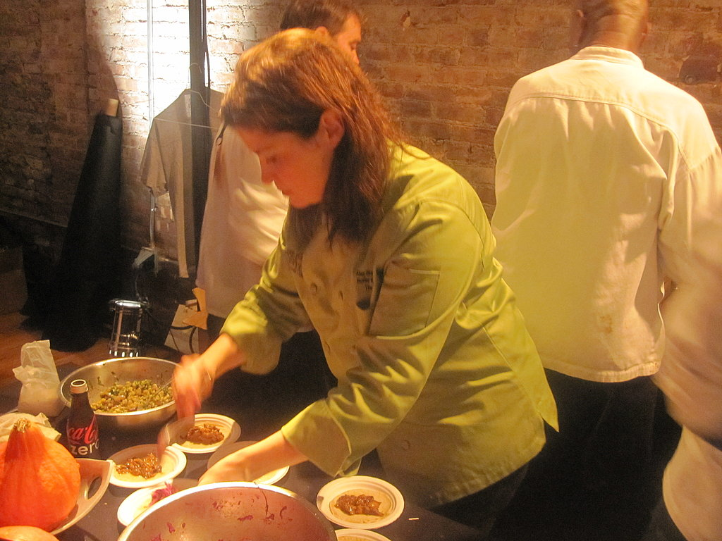 Chef Alex Guarnaschelli hard at work.