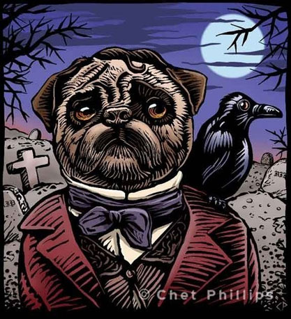 This winsome Edgar Allan Pug ($18) print is sure to crack you up.