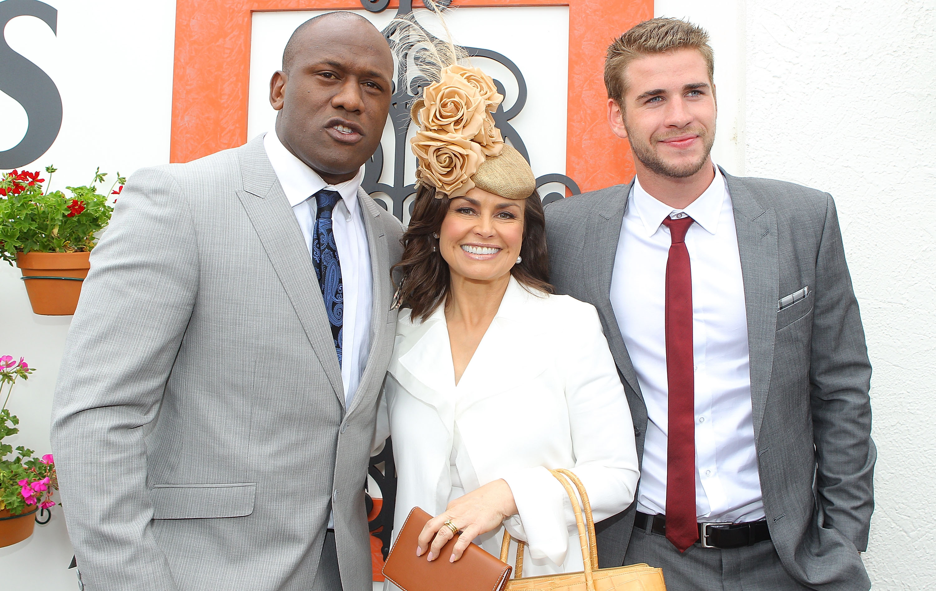 Wendell Sailor, Lisa Wilkinson and Liam Hemsworth