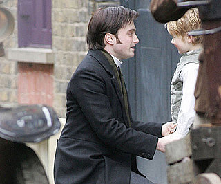 Slide Picture of Daniel Radcliffe Filming The Woman in Black