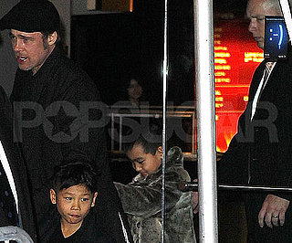Slide Picture of Brad Pitt With Pax and Maddox at Megamind Premiere