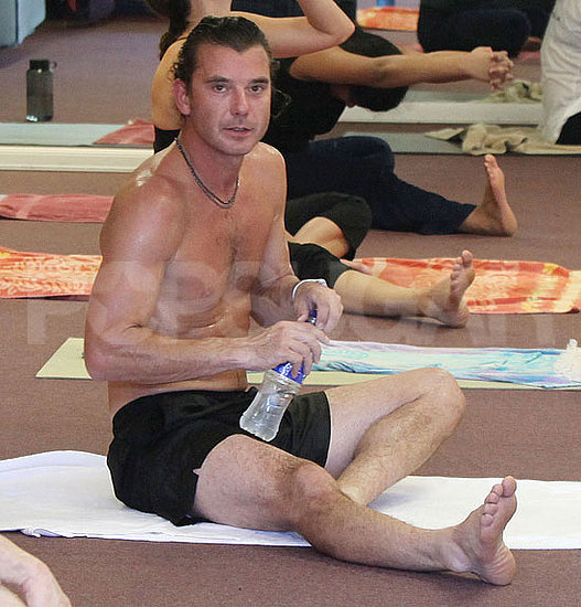 Pictures of Gavin Rossdale Shirtless Doing Yoga