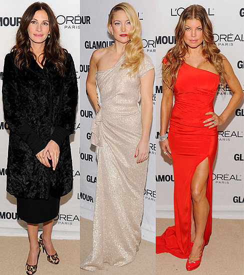 Pictures from the US Glamour Women of the Year Awards in NYC Including Julia Roberts, Kate Hudson, Cher, Estelle, Kelly Osbourne