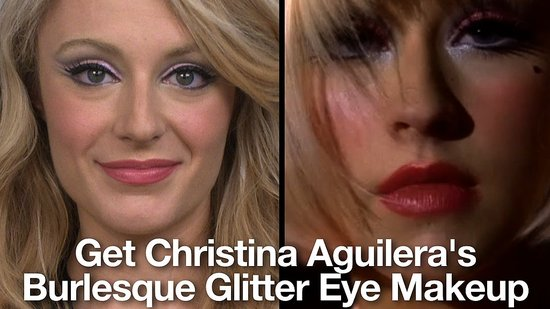 How to Get Christina Aguilera's Burlesque Glitter Eye Makeup
