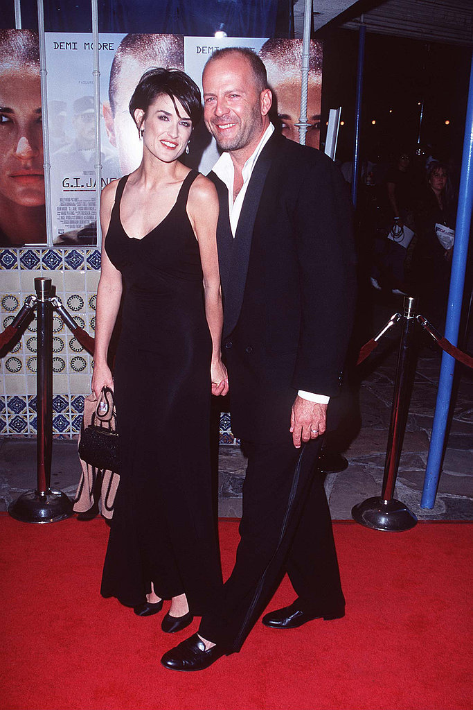Taking in the G.I. Jane film premiere in basic black — and Bruce Willis in tow.
