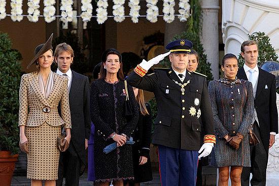 Andrea,Charlotte,pierre Casiraghi,Princess Alexandra and Princess Caroline of Hanover attend Monaco National Day 2010