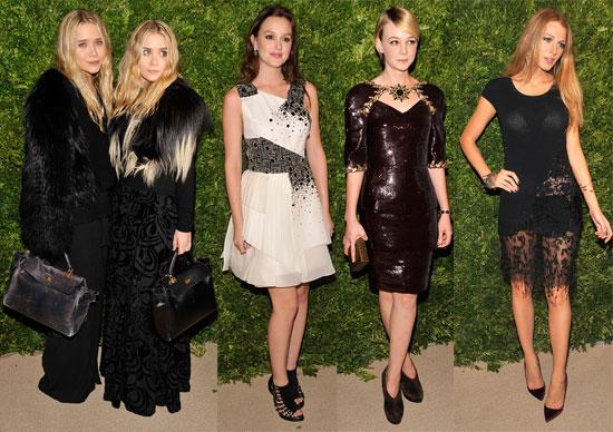Blake Lively, Leighton Meester, Carey Mulligan at the CFDA Fashion Fund Awards