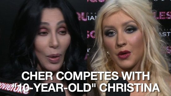 Video of Cher and Christina Aguilera at the Burlesque Premiere in LA 2010-11-16 17:16:56