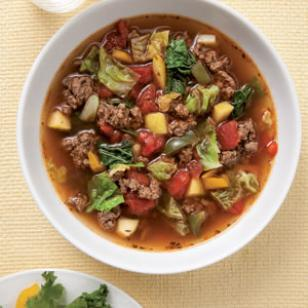 Healthy Sweet and Sour Beef Cabbage Soup Recipe