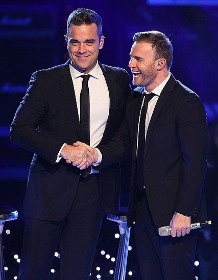Pictures of Robbie Williams and Gary Barlow Performing on Popstars Live Show in Germany