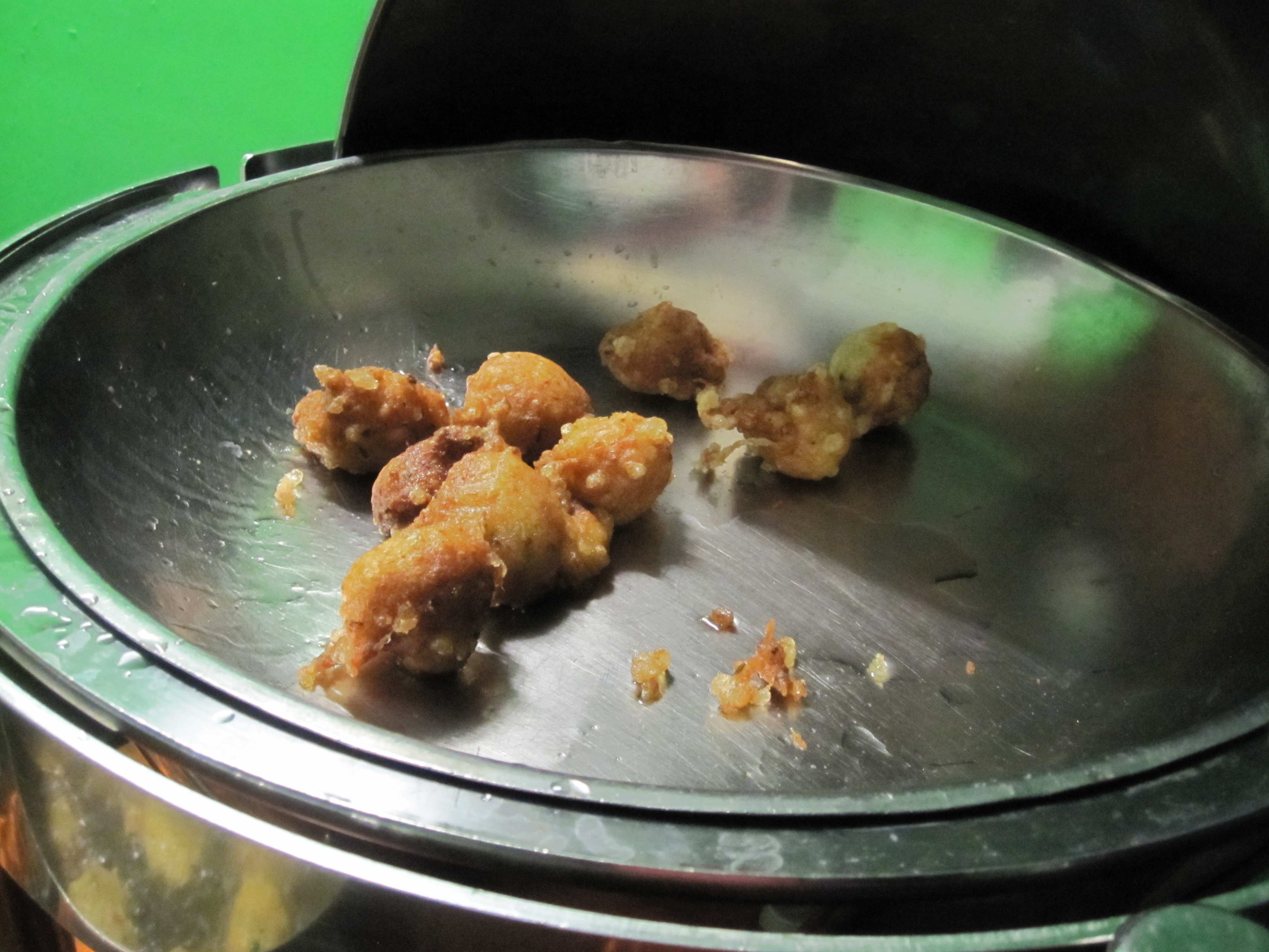 Deep-fried fish is a local specialty.