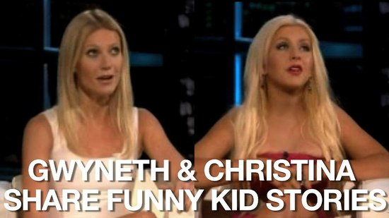 Video of Gwyneth Paltrow Talking About Her Kids' Accents and Christina Aguilera on Singing to Max 2010-11-23 14:22:43