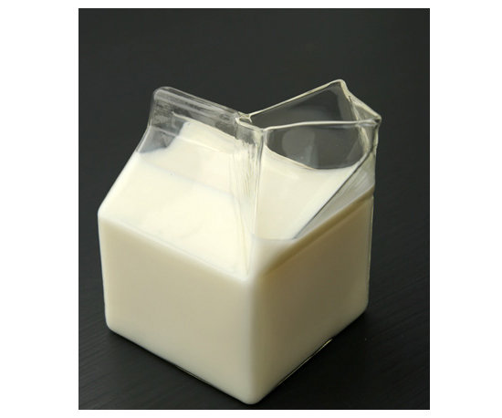 Glass Half Pint Milk Carton