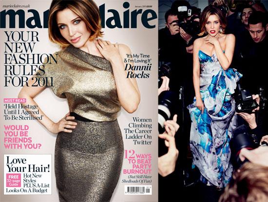 Dannii Minogue in January 2011 Marie Claire UK Magazine