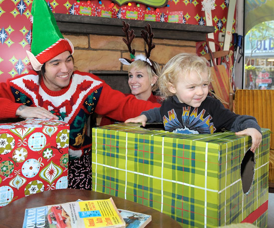 Slide Picture of Ashlee Simpson, Pete Wentz, Bronx at Holiday Party