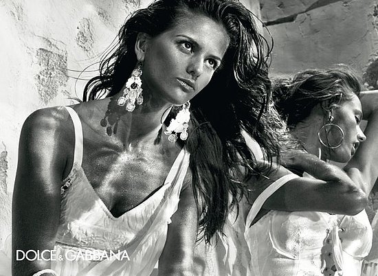 Victoria's Secret Models Izabel Goulart and Alessandra Ambrosio in Dolce & Gabbana Spring '11 Ads 2010-12-08 10:31:05