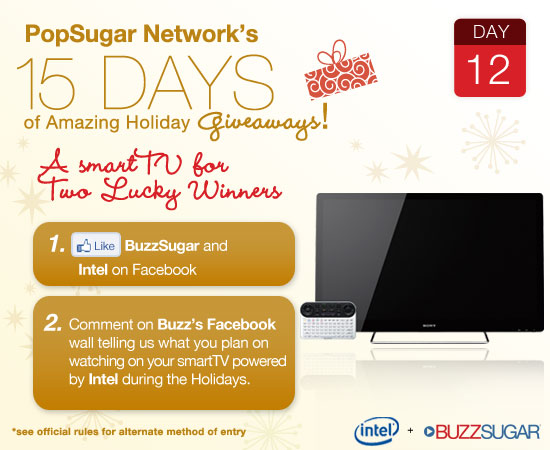 Win a Sony Smart TV holiday giveaway