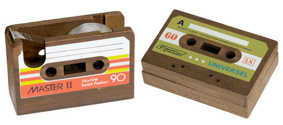 Cute Cassette Themed Desk Accessories