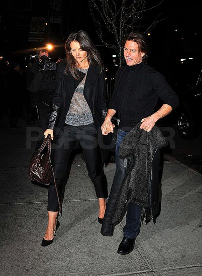Pictures of Tom Cruise and Katie Holmes Leaving the Gym on Her 32nd Birthday