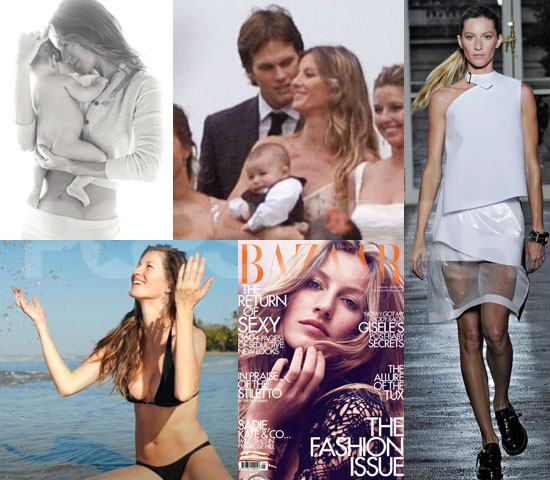 Pictures of Gisele Bundchen Modeling in 2010 After Giving Birth